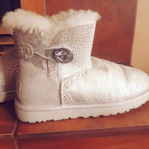 UGG Bailey Swarovski Crystal Button Bling Boots